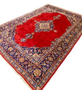 (#101) ca. 265 x 194cm Handgeknüpfter Orientteppich Kaschan Iran Signiert